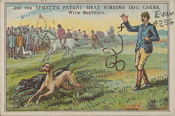 Advert for Spratt's Meat Fibrine Dog Cakes